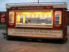 Brand New14ft Tram Style Mobile catering Trailer for Sale / Burger Van
