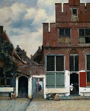 Oil Johannes Vermeer - View of Houses in Delft known as The Little Street canvas