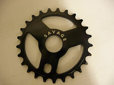 New Savage BMX Alloy Sprocket / Chainwheel 25T - 6mm COLOUR BLACK