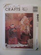 "McCall's Crafts Sewing Pattern #8441 Country Angel Dolls 16"" Harvest Home Decor"