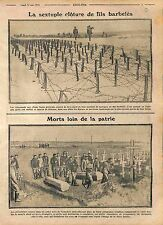 Barbed Iron Wire Barrage Imperial Russian Army Poland/Funeral Feldgrau WWI 1915