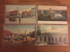 Lot of 4 Vintage Watertown NY Postcards, Post Office, Industrial, Public Square