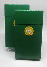 Eclipse Crayon Green Push-N-Open Button 100s Size Cigarette Case - Lot Of 2