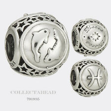 Authentic Pandora Sterling Silver Zodiac Pisces Star Sign Charm Bead 791935