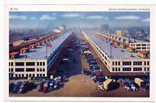 Postcard Delivery Trucks Warehouses South Water Market Chicago IL 1930s  Unused