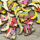 10/50/100/500pc Mix Fish Wood Buttons DIY Craft Scrapbook Sewing Appliques W224