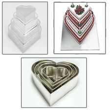 4 Tier Heart Multilayer Wedding Cake Tins
