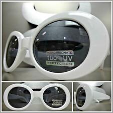 CLASSIC VINTAGE 50's RETRO CAT EYE Style SUN GLASSES White Oval Fashion Frame