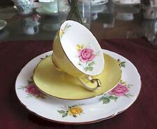 SHELLEY Fine Bone China   **PINK & YELLOW ROSES**  #14247  TRIO