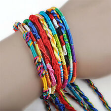 5pcs Jewelry Lot Braid Strands Friendship Cords Handmade Bracelets Wholesale
