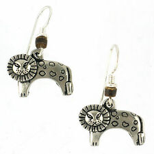 NEW Laurel Burch LEONARDO Antiqued Silver Kitty Kitten Cat Lion Retired Earrings
