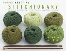 Vogue Knitting Stitchionary VOLUME 1 KNIT & PURL (2005) HARDCOVER