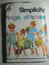 New Vtg Simplicity Hugs + Stitches Pattern 7733 Size AA 2-4  Bicycle Shorts Top
