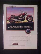 OLD  ~JAPANESE KAWASAKI JAPAN MOTORCYCLE MOTOR BIKE PRINT AD~  VINTAGE 1996 RARE