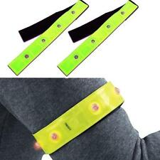 Safety Reflective Yellow Armband Red LED Lights Running Cycling Walking Hot