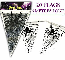 6M Spider Spooky Halloween Bunting Garland Flags decoration prop hanging party