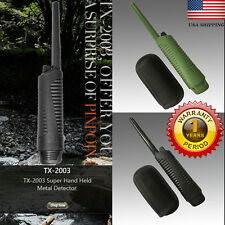 BLK Hand Held Metal Detector Pro Pinpointer Hunter w/ Holster Free USA Shipping