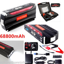 68800mAh 4USB Auto Jump Starter Car Emergency Charger Booster Power Bank Battery