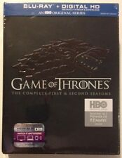 GAME OF THRONES: First & Second Seasons (1 & 2) MINT NEW 10-DISC BLU-RAY SET!!
