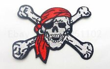 Free shipping Pirates SKULL guards ARMY MORALE MILITARY COLOR IRON ON PATCH 1pcs