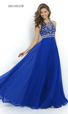 Sexy Long Chiffon Evening Formal Party Dress Bridesmaid Prom Gown US SIZE 4