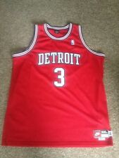 NIKE REWIND BEN WALLACE RED 1975 DETROIT PISTONS RETRO NBA THROWBACK JERSEY 3XL
