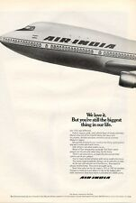 1971 Air India Airways 747 Airplane PRINT AD
