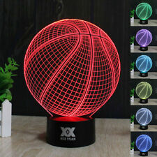 3D Basketball Desk Light Acrylic Crystal LED Table Lamp Xmas Birthday Gifts