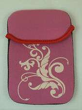"FUNDA DE NEOPRENO CON DIBUJO DE 6"" PULGADAS PARA TABLET EBOOK COLOR ROSA"