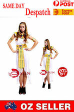 Roman Egyptian Queen Women Lady Costume Fancy Dress Up Halloween Cosplay COS26