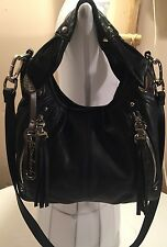"B.MAKOWSKY SUPER SOFT BLACK LEATHER HANDBAG ""Very Hard To Find!!"" NEW"