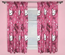 "character world 72""x66"" Hello Kitty pink Sommer Wind girls kids bedroom Curtains"