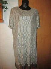 Sharade Nites Black and Gold Calf Length Dress with short sleeves size 22W