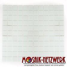 Mosaik weiss matt Glas Bad WC Küche Dusche Fliesenspiegel Art: 60-0111 | 1qm