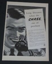Original 1941 Print Ad BELL TELEPHONE SYSTEMS Chase Out of Purchase Vintage Art