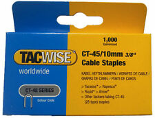 """1000 x 10mm TACWISE RAPESCO CT45 Cable Wire Tacker Staples (3/8"""") GALV 0352"""
