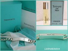 "TIFFANY & CO I.D. BRACELET! STERLING! 8.25""! W/TIFFANY MEN'S COLOGNE! 925 SILVER"