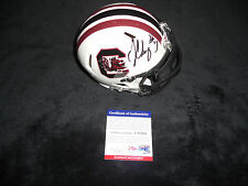 JADEVEON CLOWNEY SOUTH CAROLINA GAMECOCKS SIGNED MINI HELMET PSA/DNA CERT