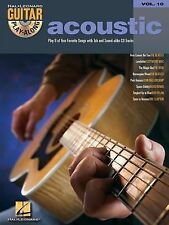 Acoustic, Piano / Vocal / Guitar, Vol.10 (2003, Paperback) Songbook/TAB/CD