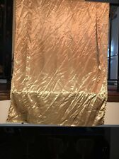Solid Gold Satin Look Rod Pocket Adjustable Tie Curtain Panel 32x42 Polyester