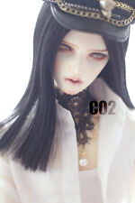 New Arrival 22-24cm Black  Long Straight Wig For 1/3 SD LUTS PULLIP BJD Wig