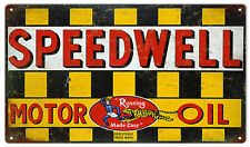 Speedwell Motor Oil And Gas Station Sign