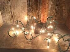 Teeny TINY STRING OF 35 RICE LIGHTS--adorable PRIMITIVE LIGHTS--7.2'-green