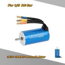 High power 3670 1900KV 4 Poles Sensorless Brushless Motor for 1/8 RC Car JO2D