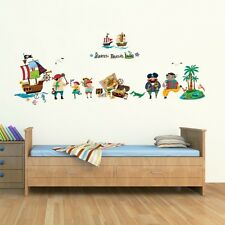 Decowall Pirates & Treasure Island Children's Wall Stickers Tattoos Decal 1310