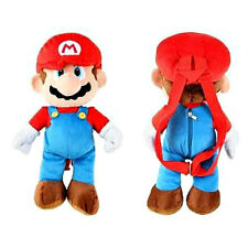 "NINTENDO SUPER MARIO BROS Large 17"" PLUSH DOLL BACKPACK Toy Pillow Tote NEW!!"