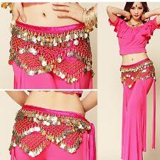 New Belly Dance Belt Velvet & Golden Coins Hip Scarf Belt 11 colors Indian dance