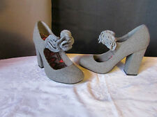 escarpins rocketdog tweed gris 40
