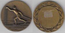 Médaille  à thème sportif  en bronze le Ski de fond