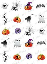 20 WATER SLIDE NAIL DECALS * HALLOWEEN ASSORTMENT *HALLOWEEN NAIL ART DECALS